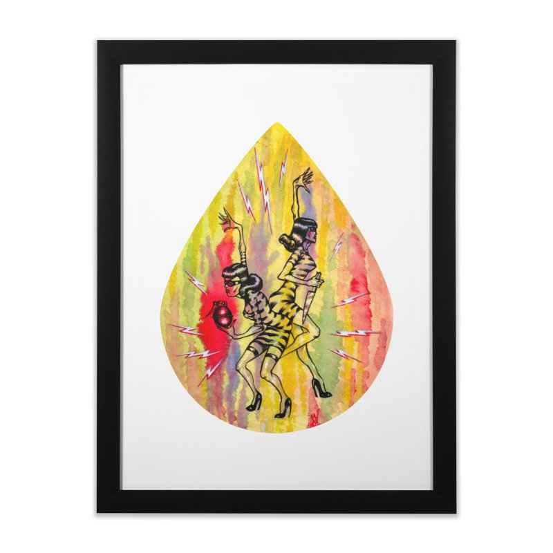 Danger Dames Home Framed Fine Art Print by Nick the Hat