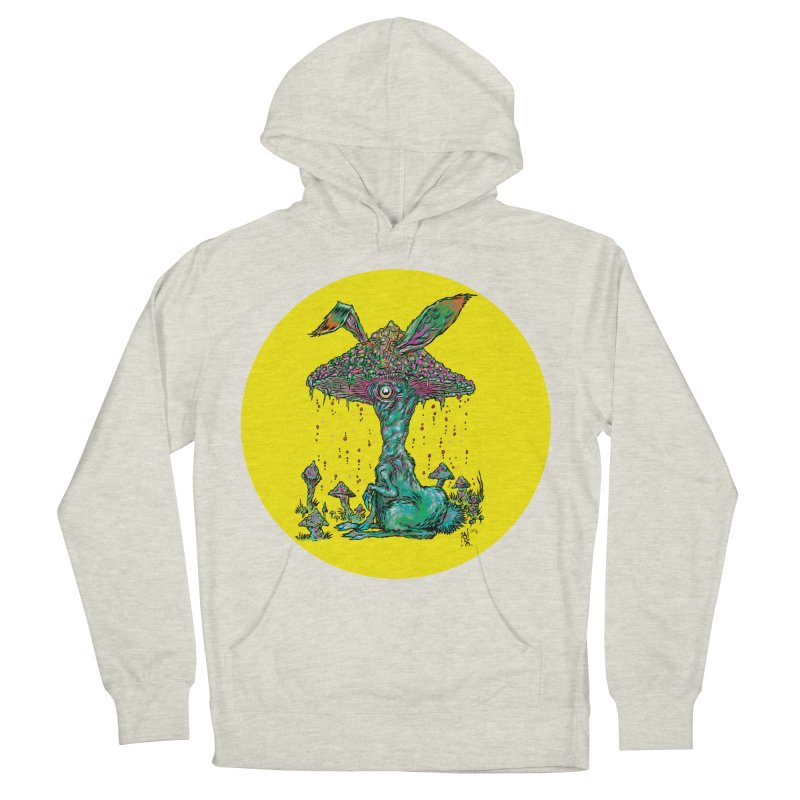 Fungal Bunny Women's French Terry Pullover Hoody by Nick the Hat