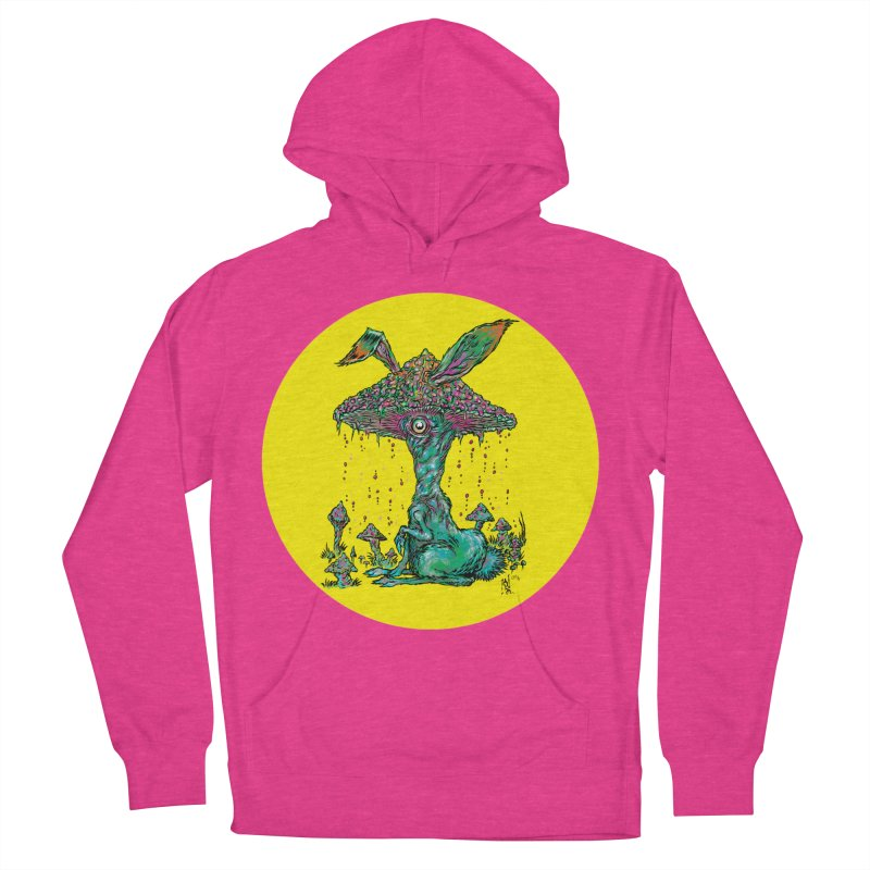 Fungal Bunny Men's French Terry Pullover Hoody by Nick the Hat