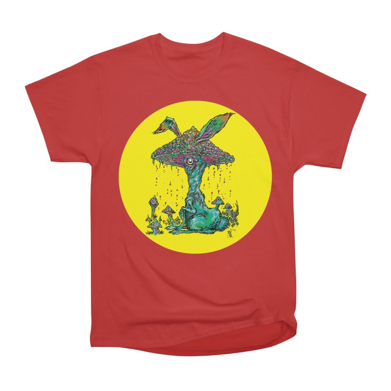 Fungal Bunny Men's Heavyweight T-Shirt by Nick the Hat