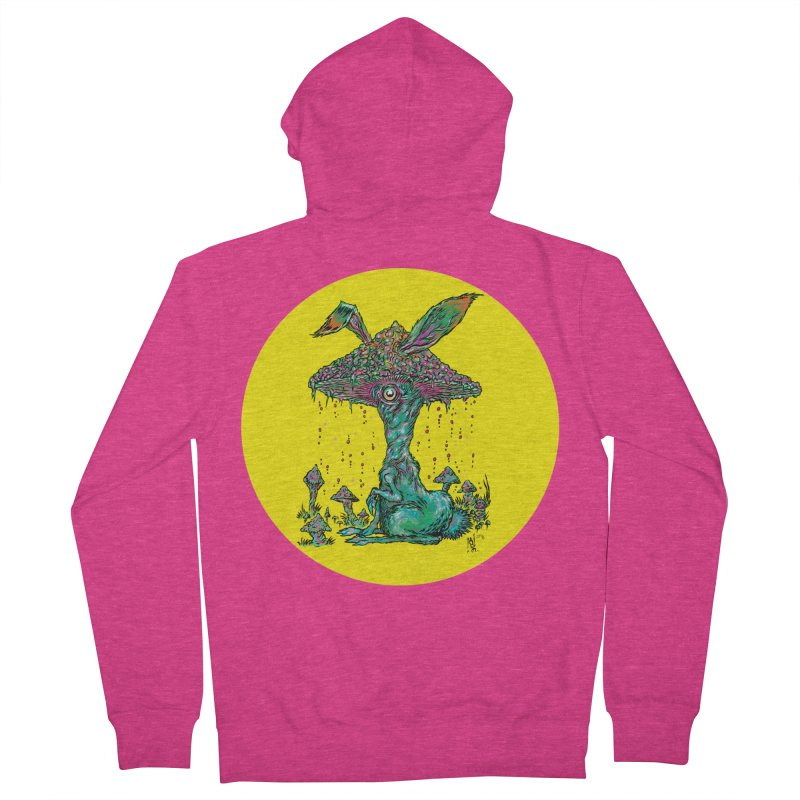 Fungal Bunny Women's French Terry Zip-Up Hoody by Nick the Hat