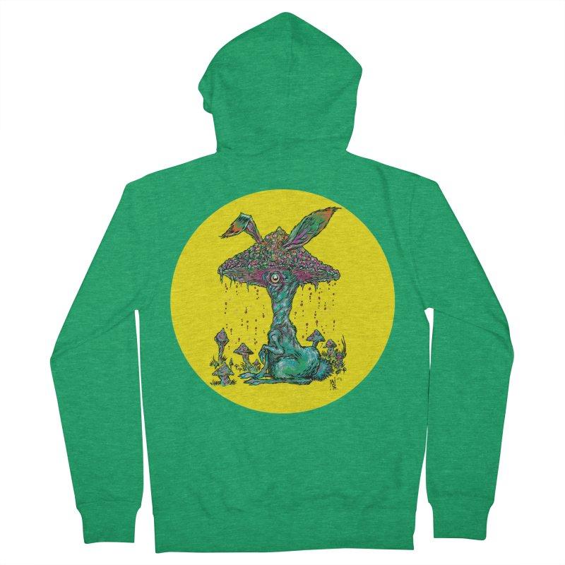Fungal Bunny Men's Zip-Up Hoody by Nick the Hat