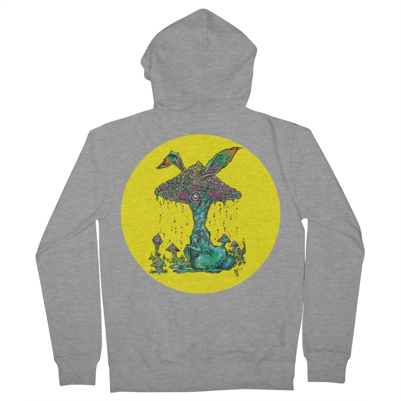 Fungal Bunny Men's French Terry Zip-Up Hoody by Nick the Hat