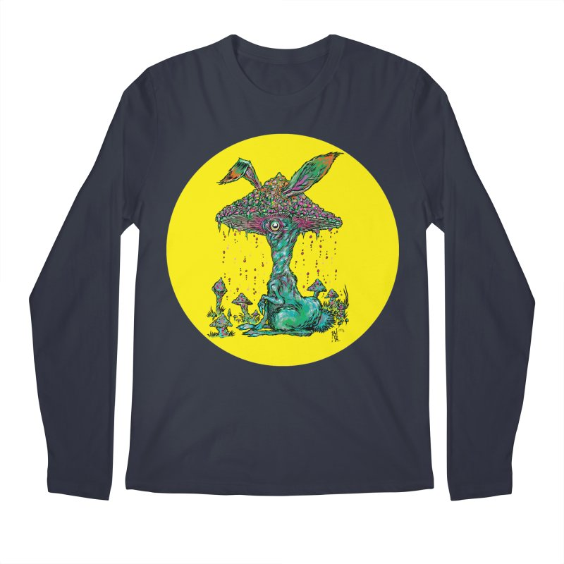 Fungal Bunny Men's Regular Longsleeve T-Shirt by Nick the Hat