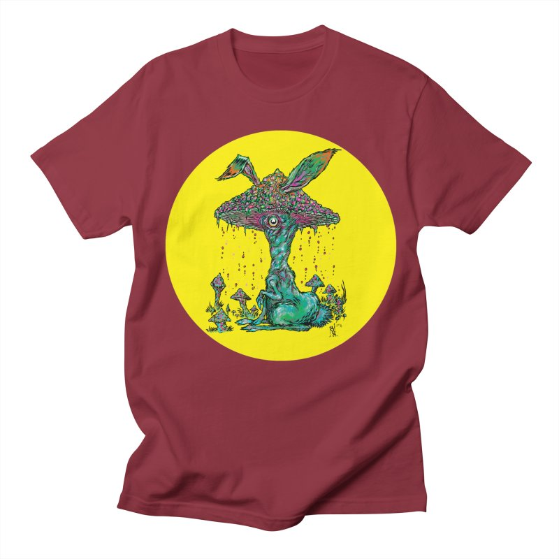 Fungal Bunny Men's Regular T-Shirt by Nick the Hat