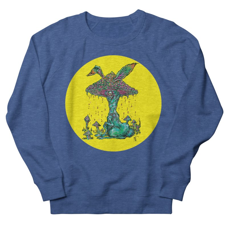 Fungal Bunny Women's French Terry Sweatshirt by Nick the Hat