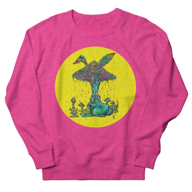 Fungal Bunny Men's French Terry Sweatshirt by Nick the Hat
