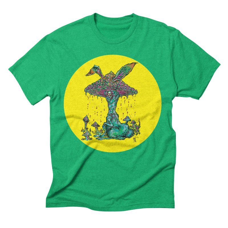 Fungal Bunny Men's Triblend T-Shirt by Nick the Hat