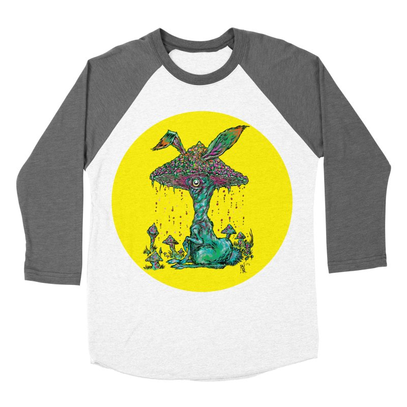Fungal Bunny Men's Baseball Triblend T-Shirt by Nick the Hat