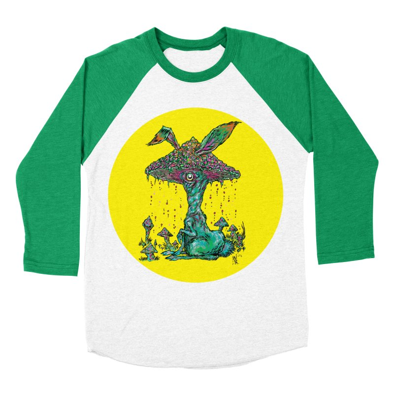 Fungal Bunny Men's Baseball Triblend Longsleeve T-Shirt by Nick the Hat