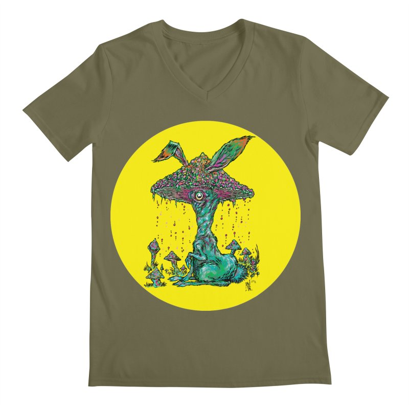 Fungal Bunny Men's V-Neck by Nick the Hat