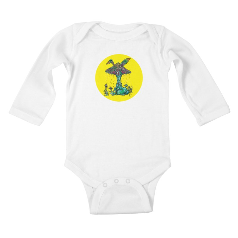 Fungal Bunny Kids Baby Longsleeve Bodysuit by Nick the Hat