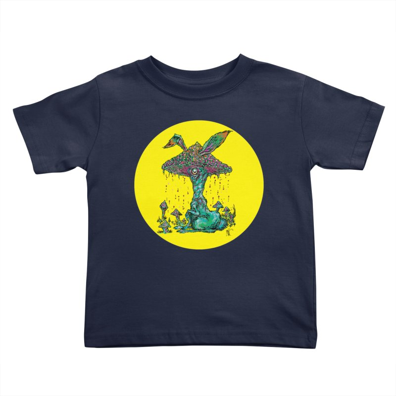 Fungal Bunny Kids Toddler T-Shirt by Nick the Hat