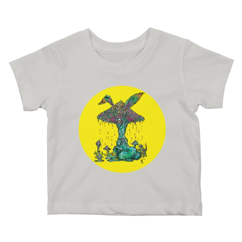 Fungal Bunny Kids Baby T-Shirt by Nick the Hat