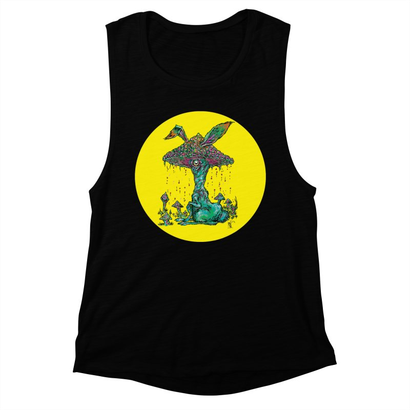 Fungal Bunny Women's Tank by Nick the Hat