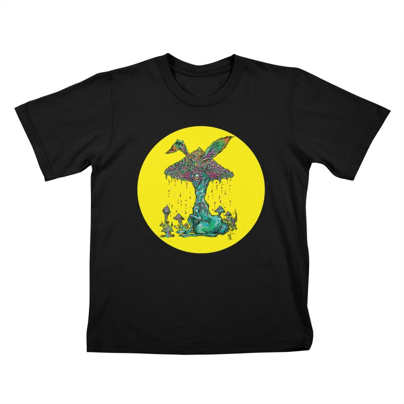Fungal Bunny Kids T-Shirt by Nick the Hat