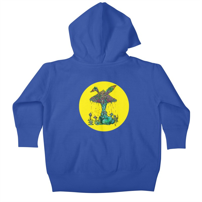 Fungal Bunny Kids Baby Zip-Up Hoody by Nick the Hat