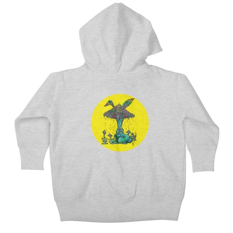 Fungal Bunny Kids Baby Zip-Up Hoody by Nick the Hat