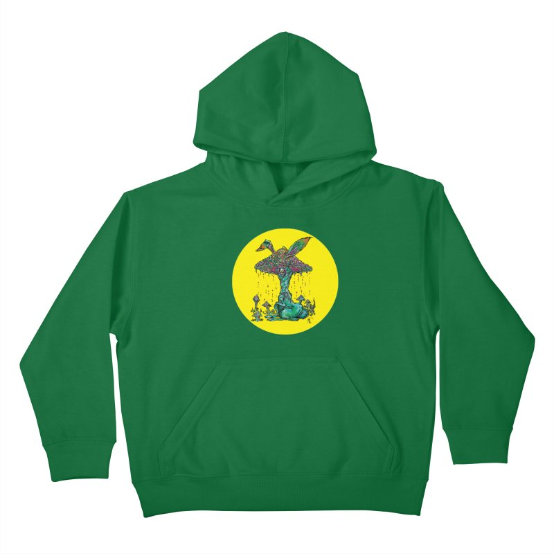 Fungal Bunny Kids Pullover Hoody by Nick the Hat