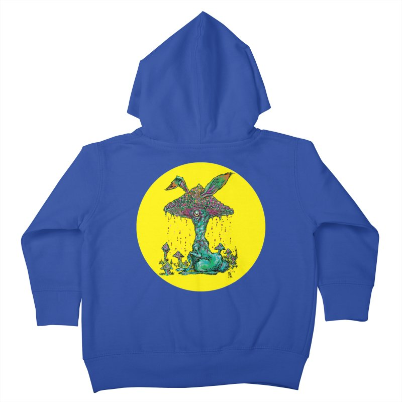 Fungal Bunny Kids Toddler Zip-Up Hoody by Nick the Hat