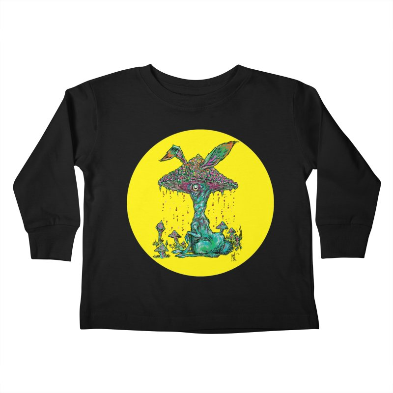 Fungal Bunny Kids Toddler Longsleeve T-Shirt by Nick the Hat