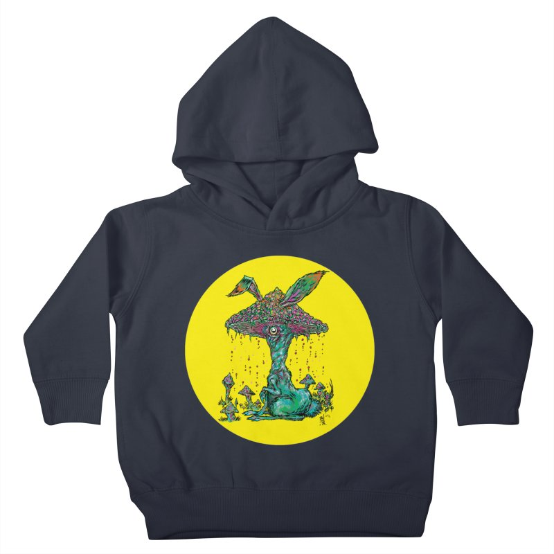 Fungal Bunny Kids Toddler Pullover Hoody by Nick the Hat