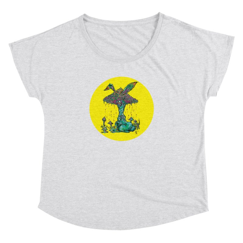Fungal Bunny Women's Dolman Scoop Neck by Nick the Hat