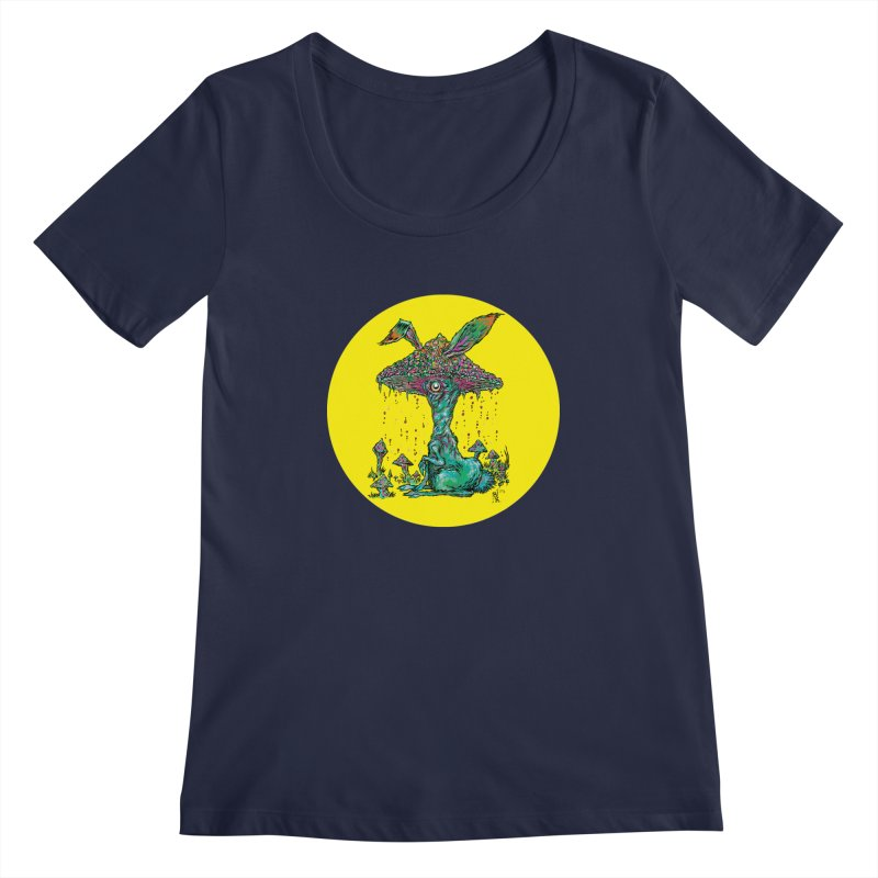 Fungal Bunny Women's Scoopneck by Nick the Hat