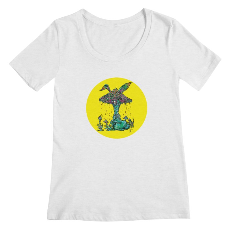 Fungal Bunny Women's Scoop Neck by Nick the Hat