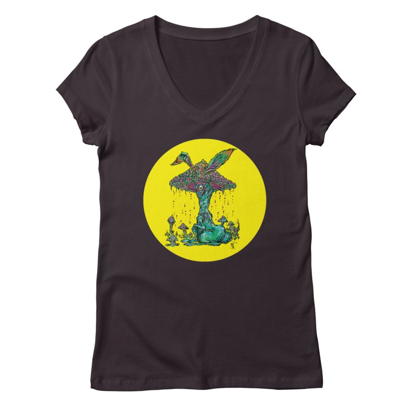 Fungal Bunny Women's V-Neck by Nick the Hat