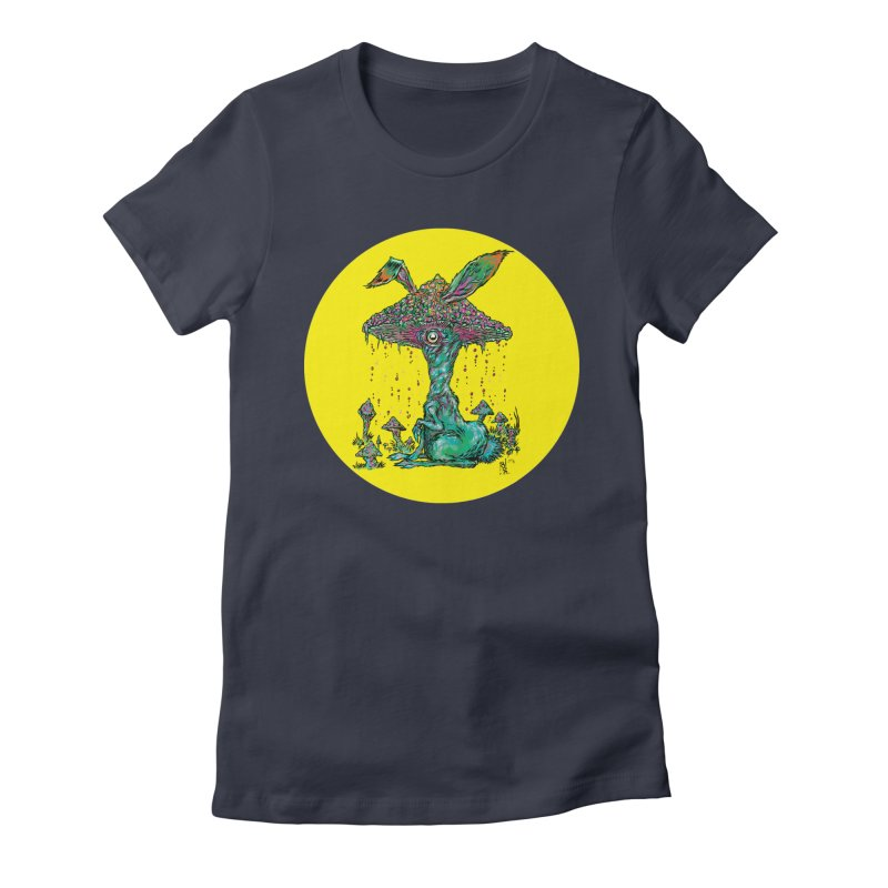 Fungal Bunny Women's Fitted T-Shirt by Nick the Hat