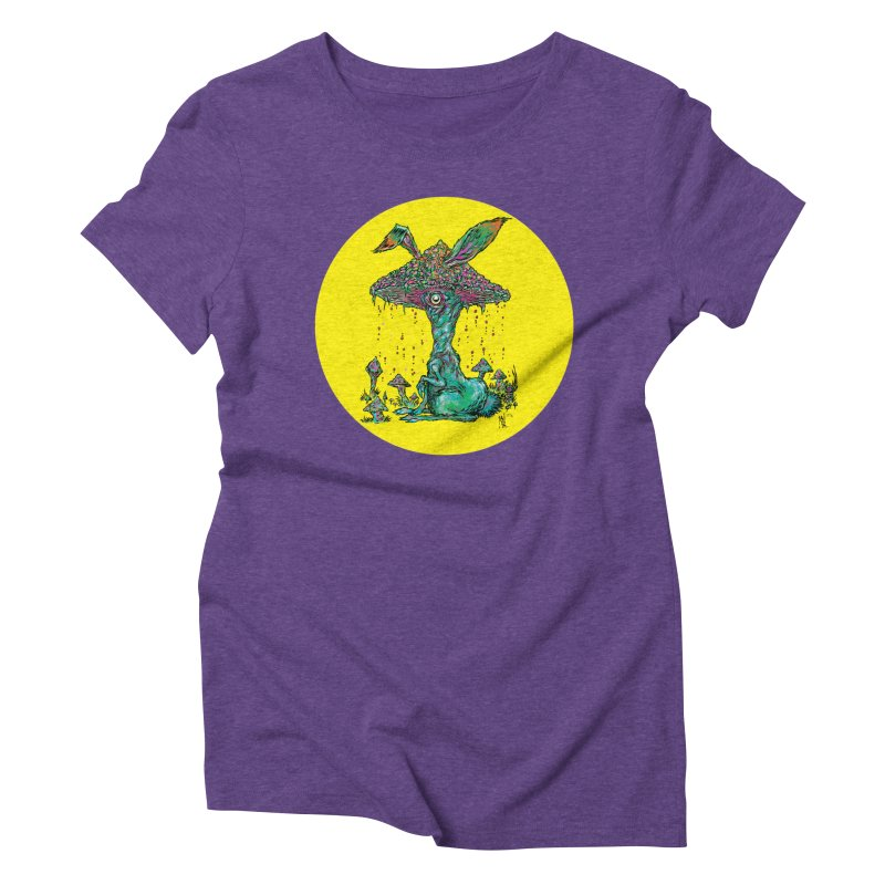 Fungal Bunny Women's Triblend T-Shirt by Nick the Hat
