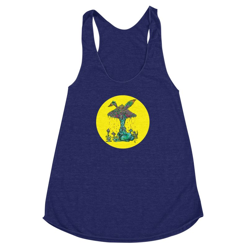 Fungal Bunny Women's Racerback Triblend Tank by Nick the Hat