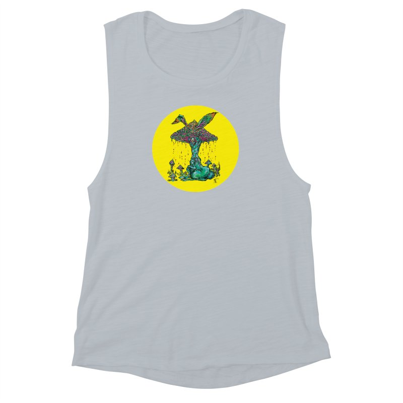 Fungal Bunny Women's Muscle Tank by Nick the Hat