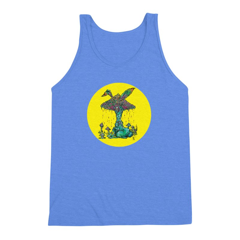 Fungal Bunny Men's Triblend Tank by Nick the Hat