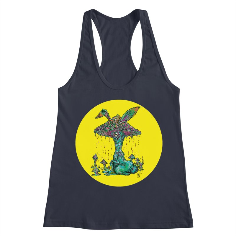 Fungal Bunny Women's Racerback Tank by Nick the Hat