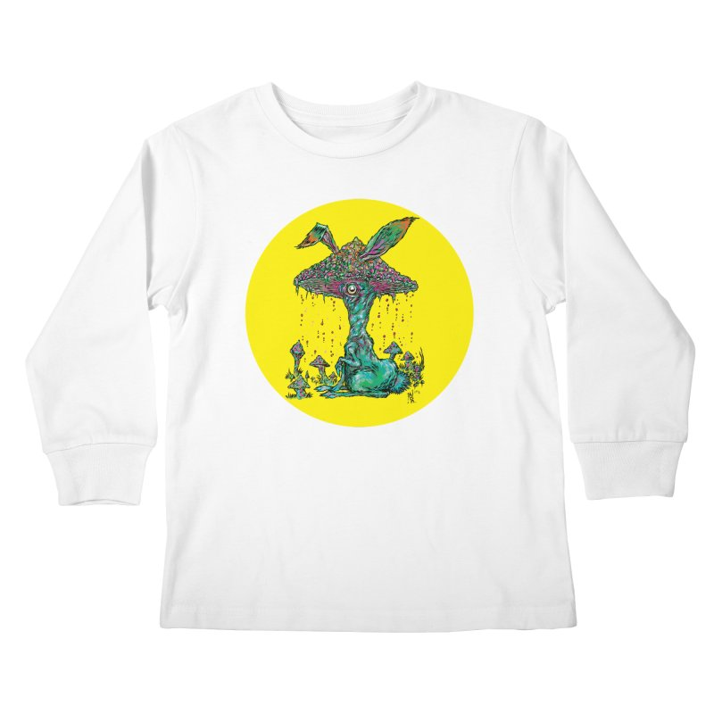 Fungal Bunny Kids Longsleeve T-Shirt by Nick the Hat