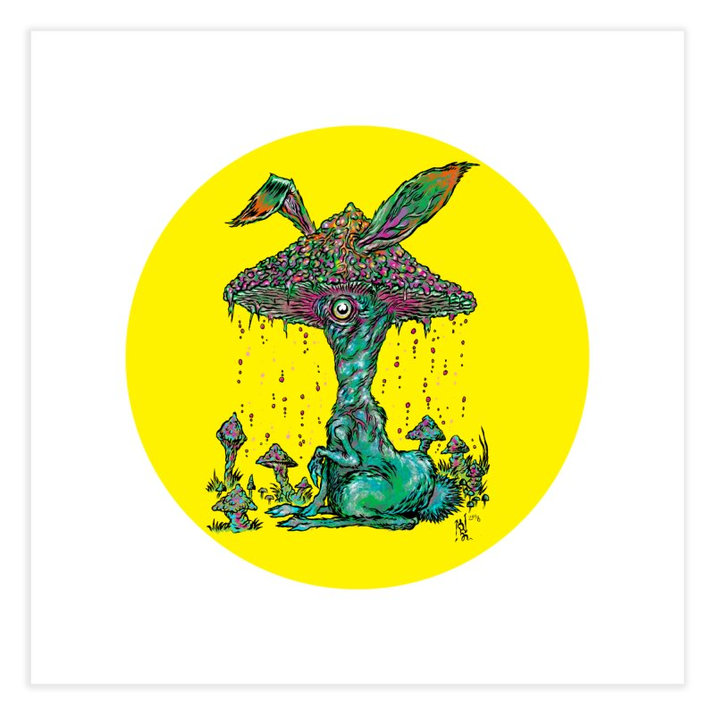 Fungal Bunny Home Fine Art Print by Nick the Hat