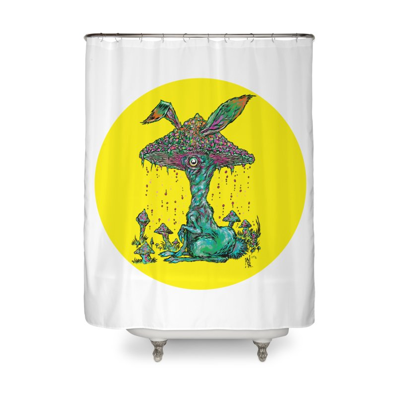 Fungal Bunny Home Shower Curtain by Nick the Hat
