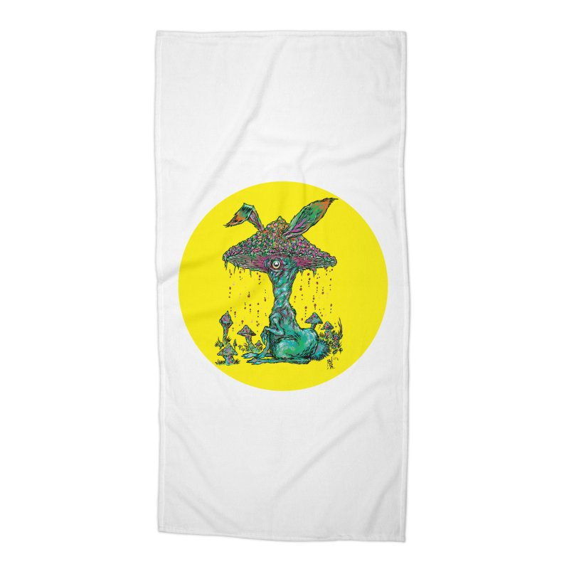 Fungal Bunny Accessories Beach Towel by Nick the Hat