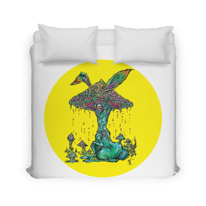 Fungal Bunny Home Duvet by Nick the Hat