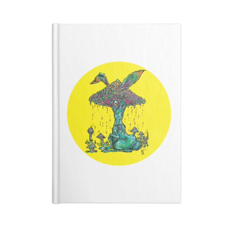 Fungal Bunny Accessories Lined Journal Notebook by Nick the Hat