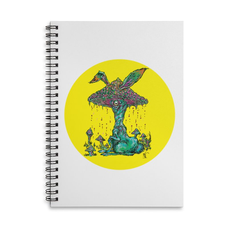 Fungal Bunny Accessories Lined Spiral Notebook by Nick the Hat