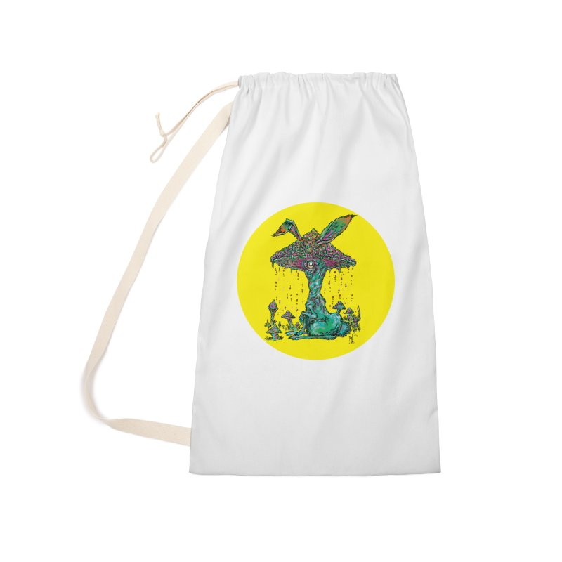 Fungal Bunny Accessories Laundry Bag Bag by Nick the Hat