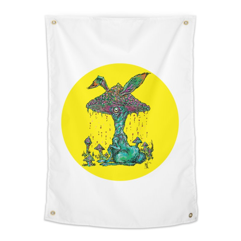 Fungal Bunny Home Tapestry by Nick the Hat