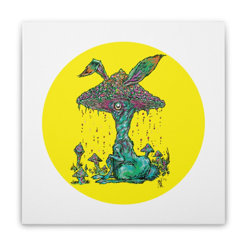 Fungal Bunny Home Stretched Canvas by Nick the Hat
