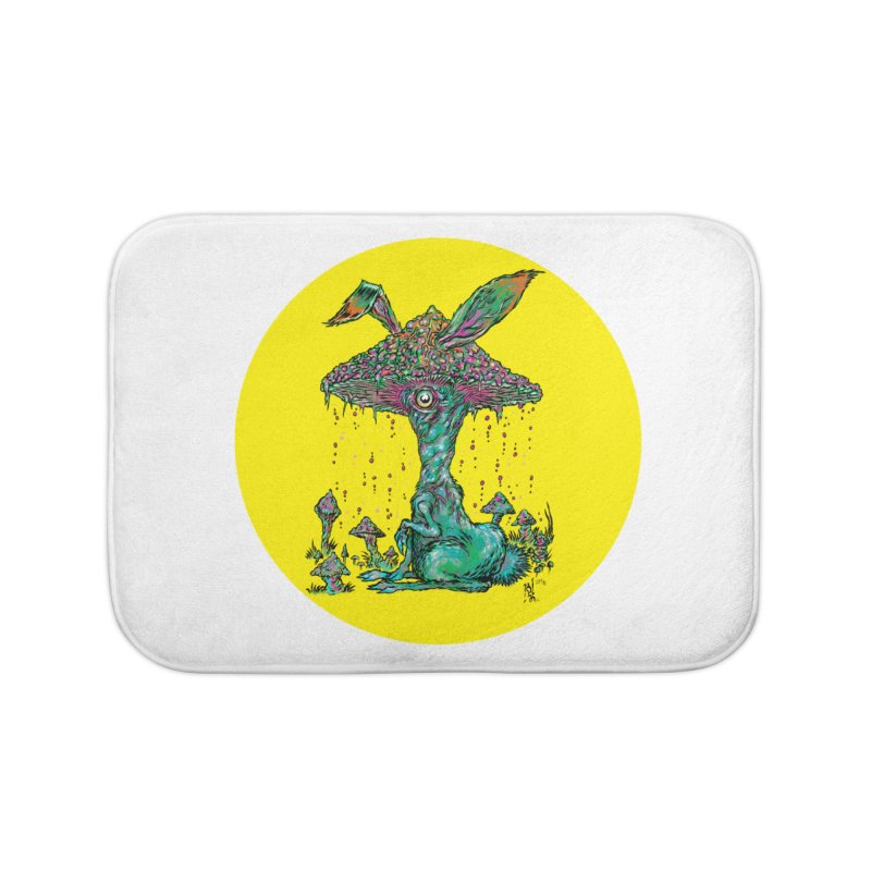 Fungal Bunny Home Bath Mat by Nick the Hat