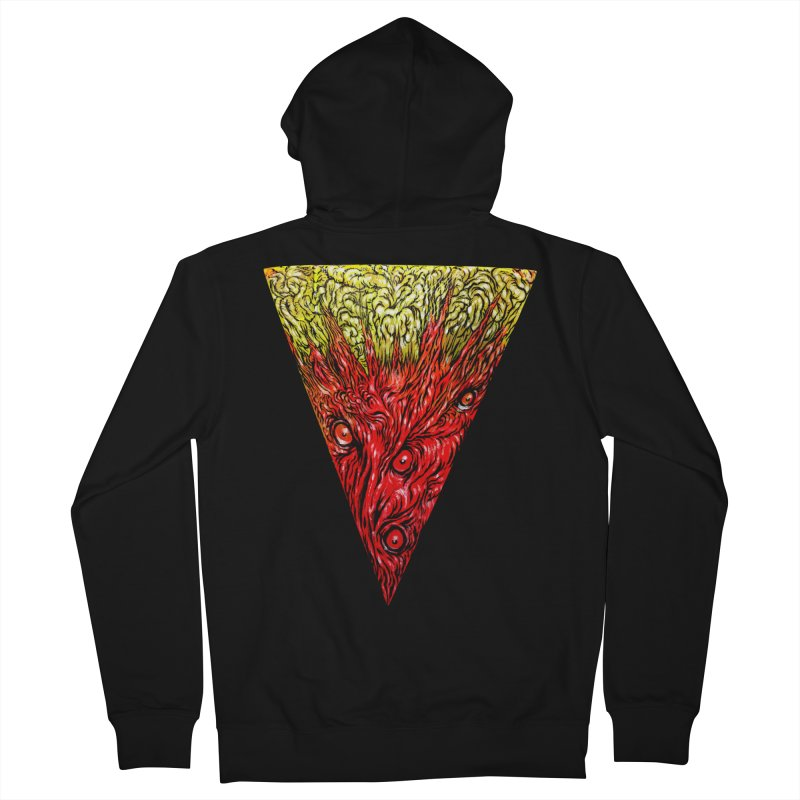 Nefarious Slice Men's French Terry Zip-Up Hoody by Nick the Hat