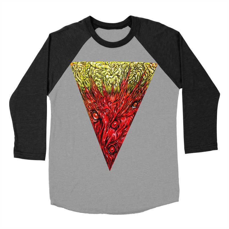 Nefarious Slice Women's Baseball Triblend Longsleeve T-Shirt by Nick the Hat