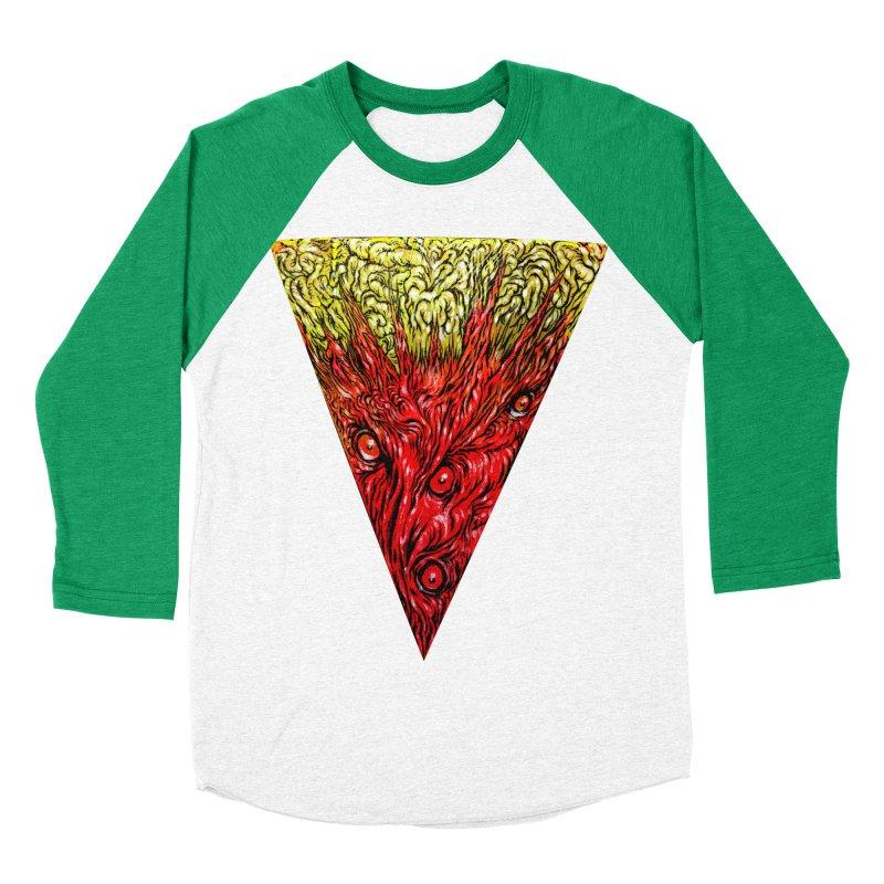 Nefarious Slice Men's Baseball Triblend Longsleeve T-Shirt by Nick the Hat